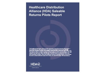 HDA Saleable Returns Pilots Report